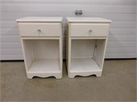 2-White Night Stands with drawer (need painting)