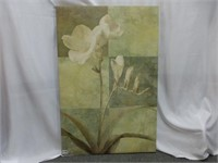 """Multi-Green Floral on Canvas 23 1/2"""" x 35 1/2"""""""