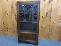 Glass Door Book Case w/4 Shelves
