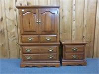 Matching Night Stand (2 drawers) and High Boy