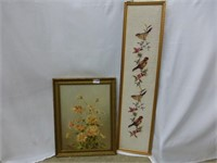 """""""Gerbers"""" Oil Picture and Needlework Bird Picture"""