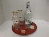 Edison Battery Oil Bottle and Milk Bottles