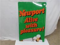 Newport Alive with Pleasure Metal Sign