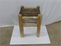 """15"""" x 15"""" x 20"""" Wood and Stick Garden Table"""