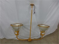 Industrial Double Frosted Globe Ceiling Fixture