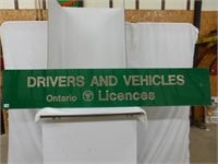 Drivers and Vehicles Ontario Licenses Sign