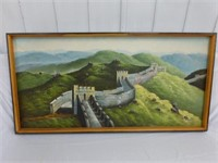 """Great Wall of China Acrylic on Canvas 49"""" x 24"""