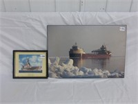 HMS Repulse Framed Picture and (con't)