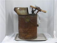 Spiral Anchor, Auger w/Wooden Handle in Pail