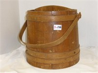 Wooden Bucket w/Handle and Divider