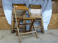8-Folding Wooden Chairs