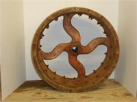 """Cast/Wooden Pulley 19""""x6 1/4"""""""
