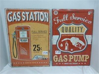 Esso Gas Station and Quality Full Service Signs