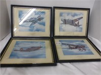 4-Airplane Pictures in Black Frames (Con't)