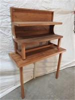 walnut display tables