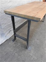 butcher block shop table