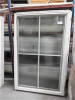 2 fixed glass vynyl windows 48x73