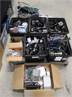 pallet of computor parts and cables