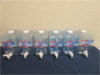 (6) 2 Gallon Water Refillable Containers