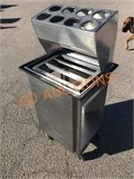SS Lakeside Tray / Silverware Cart