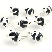 Charcoal Companion Cow Corn Holders 4 Sets