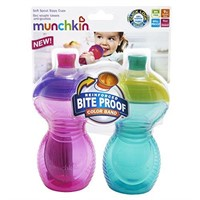 (2) Munchkin, Bite Proof Sippy Cups