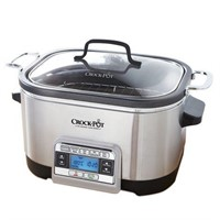 Crock-Pot 6 Qt 5-in-1 Multicooker, Stainless