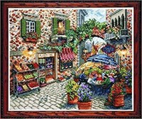 Tobin 14 Count Sidewalk Cafe Counted Cross Stitch