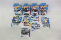 Lot of (10) Various Hot Wheels Toys