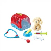 Pet Care Carrier with Plush Puppy