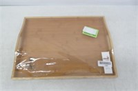 """""""As Is"""" Premium Bamboo Ottoman Food Serving Tray -"""