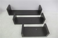 Harmony Shelf Set of 3 Floating Wall Shelves -
