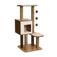 """As Is"" Vesper 52063 High Base Oak Cat Furniture"