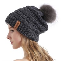 Queenfur Knit Slouchy Beanie for Women Thick Baggy