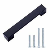 """Short Modern Cabinet Handle 6.38"""" Overall Length ("""