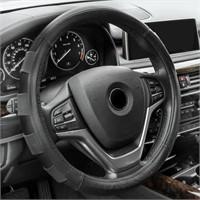FH Group FH2005BLACK Steering Wheel Cover (Genuine
