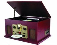 Sylvania SRCD838 5-in-1 Nostalgic Turntable with