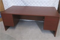 """Used"" Twin Pedestal Modern Cherry Finish office"