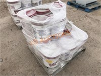 Pallet -14 5GAL Buckets NEW White Stucco