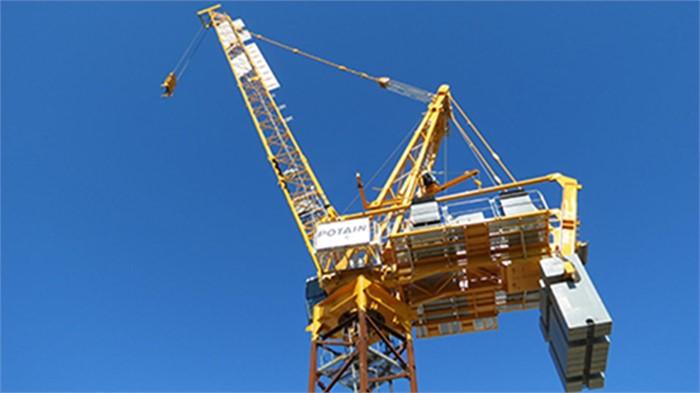 Manitowoc Potain MR 618 Tower Crane Building A Hong Kong