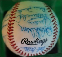 HALL OF FAME SIGNED RAWLINGS BALL NATIONAL LEAGUE
