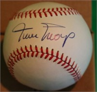2 HALL OF FAME SIGNED RAWLINGS NATIONAL LEAGUE