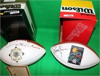 LOT OF 3 WILSON NFL AUTOGRAPHED FOOTBALLS TO