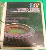 RING BINDER COLLECTION OF 23 PIECES OF RED SOX