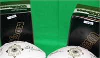 LOT OF 2 WILSON HALL OF FAME FOOTBALLS, NFL, TO