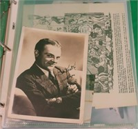 BINDER CONTAINING 67 PIECES OF EPHEMERA RELATED