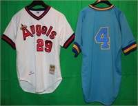 LOT OF 2 REPLICA COOPERSTOWN COLLECTION SIGNED