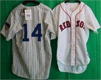2 HALL OF FAME JERSEYS . ONE IS MITCHELL & NESS.