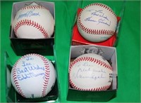 8 HALL OF FAME SIGNED RAWLINGS BASEBALLS NAMES TO