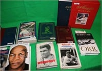 14 PIECE LOT OF SIGNED SPORTING BOOKS, SIGNATURES